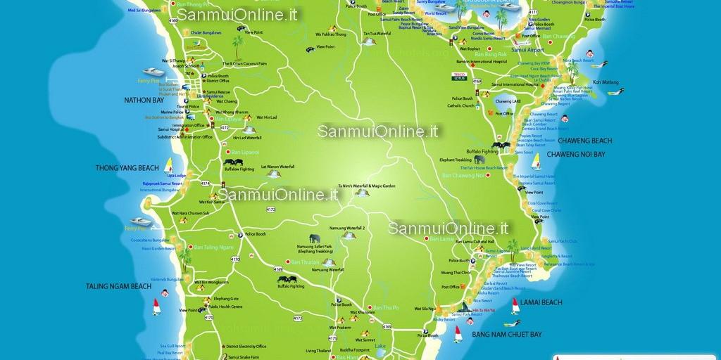 Cartina di Samui