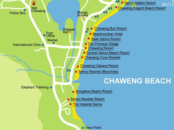 Cartina di Chaweng