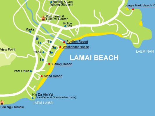 Cartina di Lamai