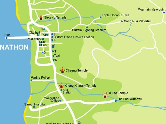 Cartina di Nathon